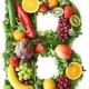 سبزیجاتی که به شکل ویتامین B در کنار هم قرار گرفته اند